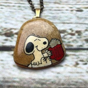 Authentic ISRAEL STONE HAND PAINTED SNOOPY